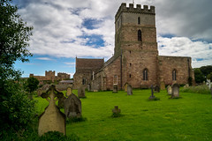 church and castle (tattie62) Tags: england castle church rural buildings headstones graves bamburgh bamburghcastle graveard