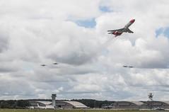 EGLF - Boeing 727 & The Blades Aerobatic Display Team (lynothehammer1978) Tags: eglf farnborough farnboroughinternationalairshow farnboroughinternationalairshow2016 gorsa boeing boeing727 oilspillresponse theblades thebladesaerobaticdisplayteam