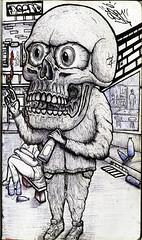 ACABATRAPOS (Asem-Uno.) Tags: skull calavera crneo ilustracin illustration sketch drawing gente skeleton esqueleto caricatura