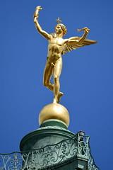 Gnie de la Bastille (frediquessy) Tags: sculpture gnie bastille paris nu louisphilippe colonne toile marais augustedumont libert allgorie