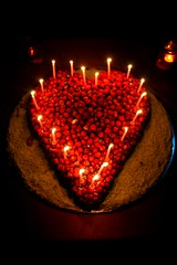 Cake of Love (dimatteoeleonora) Tags: love eledimatteophotography eos canoneos1200d canon color light lights life nature incrediblenature colorfull flickrdiamond eat candle candlelight candela birthday compleanno buoncompleanno happy happybirthday red heart cuore cake