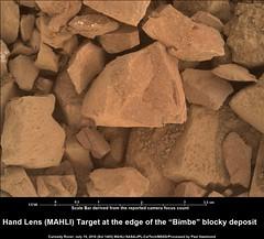 Mars: Hand Lens Target 'Bimbe' Deposits (In Explore) (PaulH51) Tags: mars closeup rocks ngc science nasa geology exploration discovery jpl caltech msl bimbe lewisandclarktrail msss inexplore planetmars mahli malinspacesciencesystems curiosityrover galecrater rawcolours scalebaradded murraybuttes