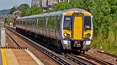 387118 (JOHN BRACE) Tags: 2014 bombardier derby built class 387 electrostar emu 387118 seen horley station thameslink white livery