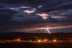 Distant Lightning (inlightful) Tags: lightning strike bolt clouds storm thunder rain sky nature electric southwest desert monsoon newmexico