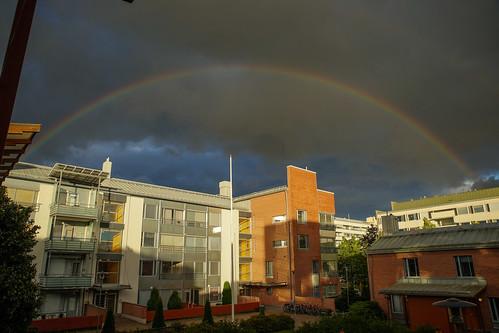 Rainbow's brief visit