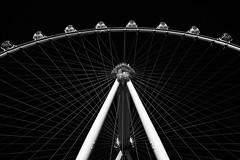 High Roller (Mondmann) Tags: highroller observationwheel ferriswheel touristattraction attraction lasvegas nevada usa unitedstates america unitedstatesofamerica bw mondmann canonpowershotg7x contrast