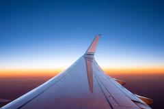 Alaska Airlines approaching Sacramento (oliver.nispel) Tags: alaska airline sky aviation airplane air plane sunset fly flight travel blue