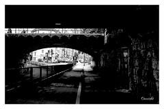 Hans-Bckler-Platz   Cologne (Onascht) Tags: cologne dom kln nrw nikond610 sigma50mm sommer strasse unterfhrung black bridge brcke schwarzweis street white
