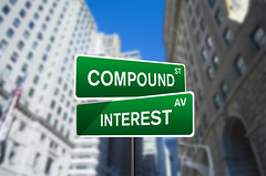 Compound Interest Street Sign On Wall Street (investmentzen) Tags: finance finances financial invest investment investing money wallstreet wall street sign compound interest