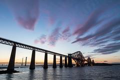 Forth Bridge - Sunset (dalejckelly) Tags: canon 7d 7dmarkii scotland sunset queensferry bridge bridges forth rail railway landscape summer edinburgh sky sea coast