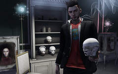 Though this be madness, yet there is method in it (Tyler Oysternatz (on vacation)) Tags: dollhouse dolls boockcase heads cases kalback blazer hamlet secondlife fancydecor wallpanels cureless tyler
