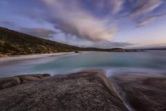 Sloping (Crouchy69) Tags: sunrise dawn landscape seascape ocean sea water coast rocks clouds sky little beach 2 two peoples bay albany western australia