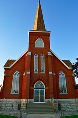 Church Road Church (John Dame) Tags: nebraska corn b1b farm countryroads cornrows church harvest