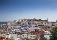 Albufeira (Hans van der Boom) Tags: vacation holiday europe portugal algarve albufeira buildings hill jumble apartments hotels bluesky pt