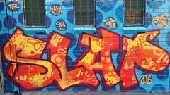 Slap... (colourourcity) Tags: streetartaustralia streetart graffiti melbournestreetart melbourne burncity colourourcity awesome nofilters slap bunsen burner letetrs alphabetmosnters