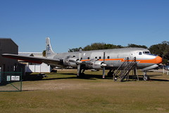 N381AA Douglas DC-7BF (eigjb) Tags: florida usa february 2016 aircraft airplane airliner aviation plane spotting transport airport n381aa dc7 piston classic preserved american airlines new smyrna beach prop propliner douglas opalocka stored restuarant grille dc7bf converted cargo freighter