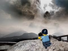 make a photo (genelabo) Tags: lego genelabo karwendel sylvenstein speichersee lake mountains krieger legostein bavaria miniatur figur figure close up 2016 mini photo clouds