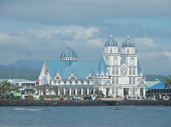 Striking Building (mikecogh) Tags: apia samoa striking beautiful architecture church mulivaicathedral catholic towers