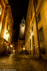 Wandering the streets of Gamla Stan #2 (sarahmcomish) Tags: hdr architecture street stockholm night alley old town gothic church cathedral