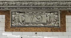 79 St IRT Station - Broadway (TheMachineStops) Tags: 2016 indoor subwaystation 79 subway mta nyc nycta uws upperwestside newyorkcity newyorksubway irt nyctransit cartouche text platform