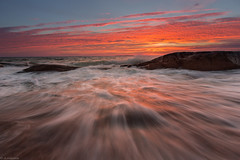 Wave_ (JLindroos) Tags: wave sea sunset sky clouds seascape horizon colorful rocks rock autumn pori reposaari finland canon zeiss lee filters jlindroos