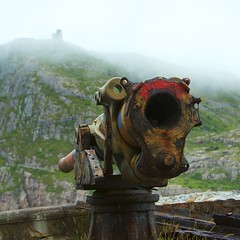 Defending The Edge Of The World (Mike.Geiger.ca (Myke)) Tags: abandoned barrel battery bullet cannon color colour decay defence derelict firearm fog gun metal mortar munition newfoundland newfoundmcat projectile rust shell signalhill stjohns steel urban urbanexploration weapon canada