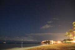 Night Beach (BattysGambit) Tags: 2016 usa hawaii hawaiian holiday maui fall beach lahaina star trails night canon 7d dslr westin sheraton kaanapali