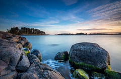 Autumn (Mika Laitinen) Tags: autumn balticsea canon7dmarkii europe helsinki leebigstopper leefilters leendgrad scandinavia suomi tokina1116mm uutela vuosaari blue calm cloud color colorful landscape longexposure nature ocean outdoor rock sea seascape serene shore sunset wideangle helsingfors uusimaa finland fi ~themagicofcolours~xiv