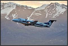 N113AX ACE _ Alaska Central Express (Shark Teeth on Engines) (Bob Garrard) Tags: n113ax ace alaska central express shark teeth sunrise dawn beech 1900c anc panc