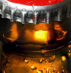 Backlit Bud (Albert N Lewis) Tags: mancro macromondays budweiser bud beer bottle backlit dring glass