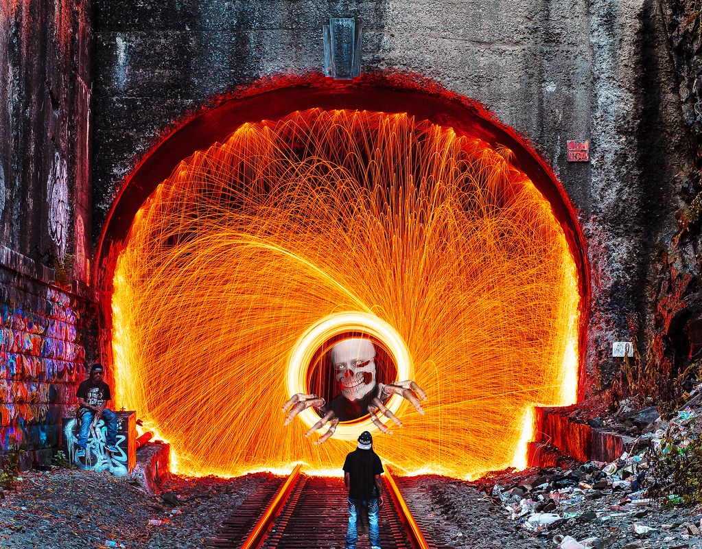 how to add colors to steel wool photography