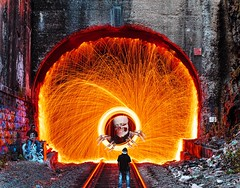 Ruler 4 (the_celestial_dreamer) Tags: cave train tunnel people person jersey city jerseycity bergen facebook instagram twitter snapchat color colors colour colours steel wool steelwool skull hands explore photo photography canon dslr 5dmkii 5d mkii 85mm long exposure longexposure dead man deadmanscave
