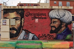 Philistines! (RagbagPhotography) Tags: wall art carton mural picture drawing painting gable end building color colourful los alcazares murcia spain