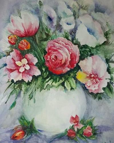 Акварельные #цветы )я пытаюсь избавиться от постоянного детализировать рисунка, если честно-ужасно сложно. Но я стараюсь;)▪ Watercolor #flowers ) I'm trying to get rid of the constant detail drawing, frankly, terribly difficult. But I'm trying) #рисуюсама