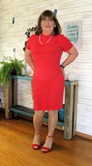 In the Red (Trixy Deans) Tags: tgirl tv transgendered transvestite tranny tgirls xdresser sexy sexytransvestite sexyheels sexylegs cute dress dresses crossdresser crossdress elegant feminine legs longskirt minidress hot heels highheels heelssexy
