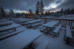 First Snow at Snow Summit in Big Bear Lake, California for the 2014-2015 winter season.