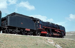 46061  bei Cay  16.05.82 (w. + h. brutzer) Tags: analog train turkey nikon railway zug trains steam trkei cay 46 dampflok lokomotive eisenbahnen tcdd dampfloks webru