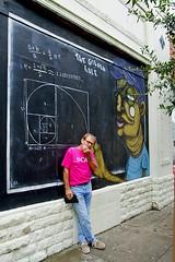 Pondering the equation. (redhorse5.0) Tags: sign graffiti wallart streetscene thinking equation scad savannahgeorgia wallsign sonya850 redhorse50