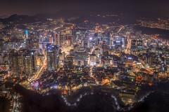 Seoul (arcreyes [-ratamahatta-]) Tags: city winter night buildings lights cityscape korea seoul southkorea 2014 nseoultower arcreyes