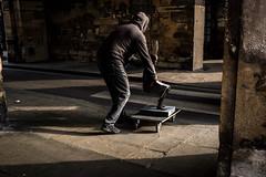 (Jack Simon) Tags: sculpture man hoodie x100s