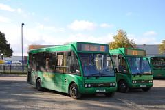 Huyton Travel, Liverpool (Hesterjenna Photography) Tags: travel bus liverpool coach transport passengers traveller transportation minibus psv htl merseyside busservice huyton optare optaresolo htlbuses yj06mof yj06moa