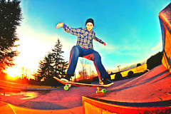 Five O backside out (Sebastian Barrios) Tags: seattle sunset luz beautiful truck lens atardecer dawn washington nikon skateboarding o five down fisheye skatepark skate skateboard trick pinos lente bellevue patineta rokinon d3100