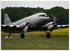 Douglas DC-3C Chalair Aviation F-AZOX (Aerofossile2012) Tags: aircraft aviation airshow douglas dc3 dakota avion c47 cerny 2013 ferté chalair