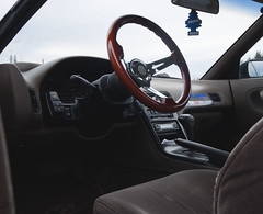 interior views (Jtb.photographie) Tags: winter car wheel japan photography nikon flickr nissan steering quebec tire silvia automatic 1020mm avenue coupe jdm falken drift 240sx lhd pignose s13 d90 onevia