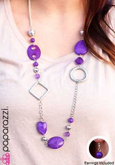 Glimpse of Malibu Purple Necklace K1 P2410-1