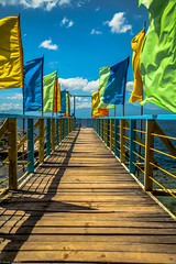 The Pier_Samal Island_Philippines (emoburnout) Tags: pier philippines flags blueskies davao samalisland canon24105 canon6d coloursplosion