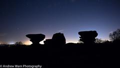 Glowing (burnleybornandbred) Tags: sky stars photography rocks astro astrophotography astronomy brimham brimhamrocks