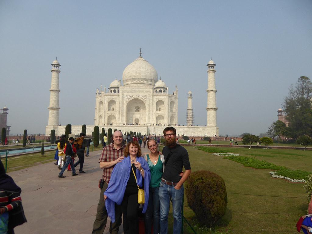 The whole gang at the Taj