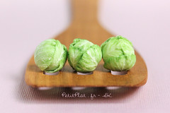 Day 61 - Cabbage / Chou Lisse (PetitPlat - Stephanie Kilgast) Tags: sculpture art miniatures polymerclay fimo cabbage miniaturefood artchallenge