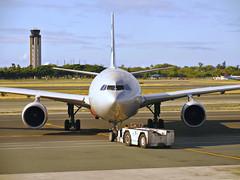Jetstar A330-203 VH-EBK (kenjet) Tags: atc silver hawaii ramp airbus honolulu tug jetstar departure tow a330 airliner hnl widebody qf airtrafficcontroltower jq honoluluinternationalairport a330200 atctower phnl a330203 jetstarairways vhebk